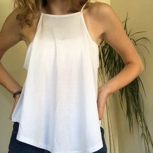White Urban Outfitters high neck tank top